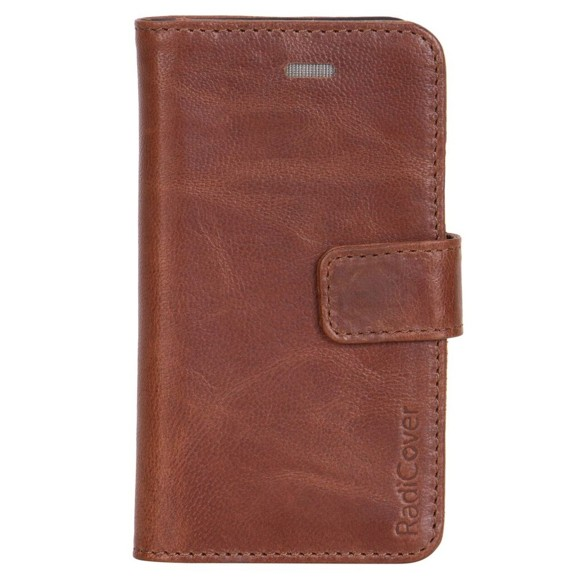 """RadiCover - Flipside """"Exclusive"""" Stand Function - Iphone 5/5S/SE - Brown"""