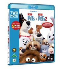 Secret Life Of Pets 1+2 - Blu ray