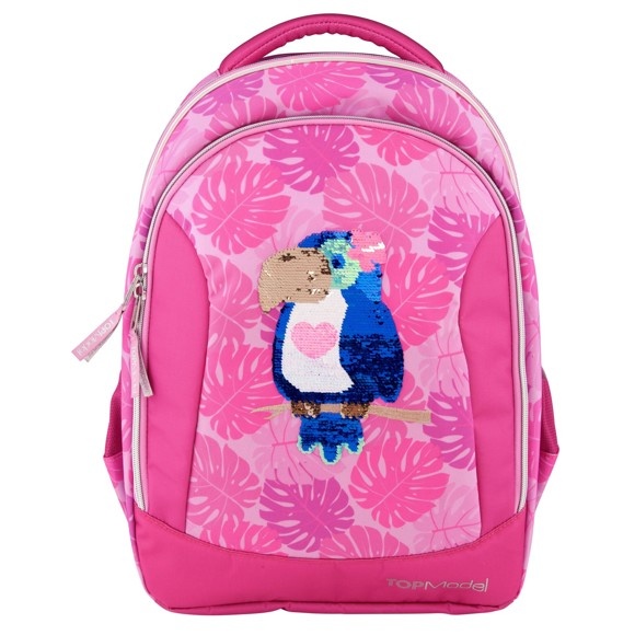 Top Model - School Backpack w/sequins Tropical - Pink (0410448)
