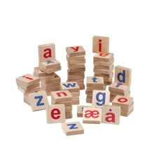 KREA - Træmagneter med små bogstaver (inkl. æ,ø,å)