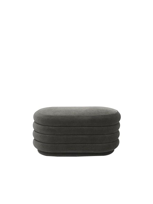 Ferm Living - Pouf Oval Medium - Grey (9461)