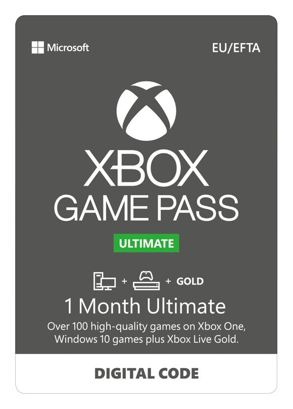 Xbox Game Pass Ultimate 1 Month Subscription