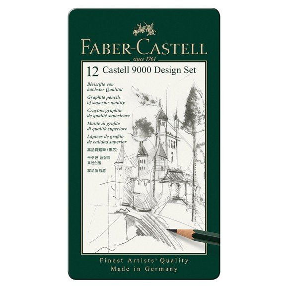 Faber-Castell - Graphite pencil Castell 9000 Art set (119065)