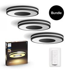 Philips Hue - 3x Being Deckenleuchte - White Ambiance - Bluetooth - Bundle