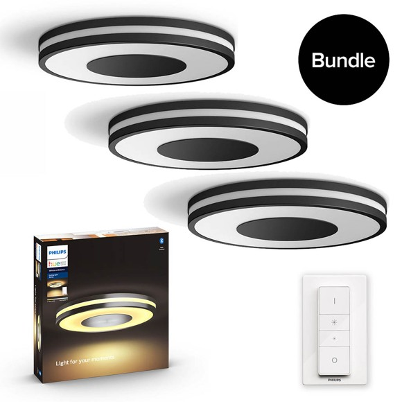 Philips Hue - Being Ceiling Light Black - 3xBundle