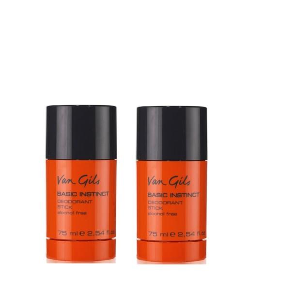 Van Gils - 2x Basic Instinct Deodorant stick 75 ml
