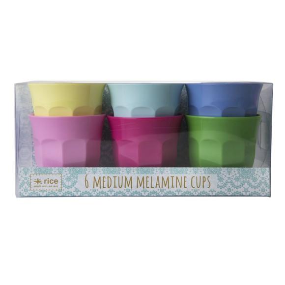 Rice - Medium Melamin Kopper 6 Stk - Classic Colors
