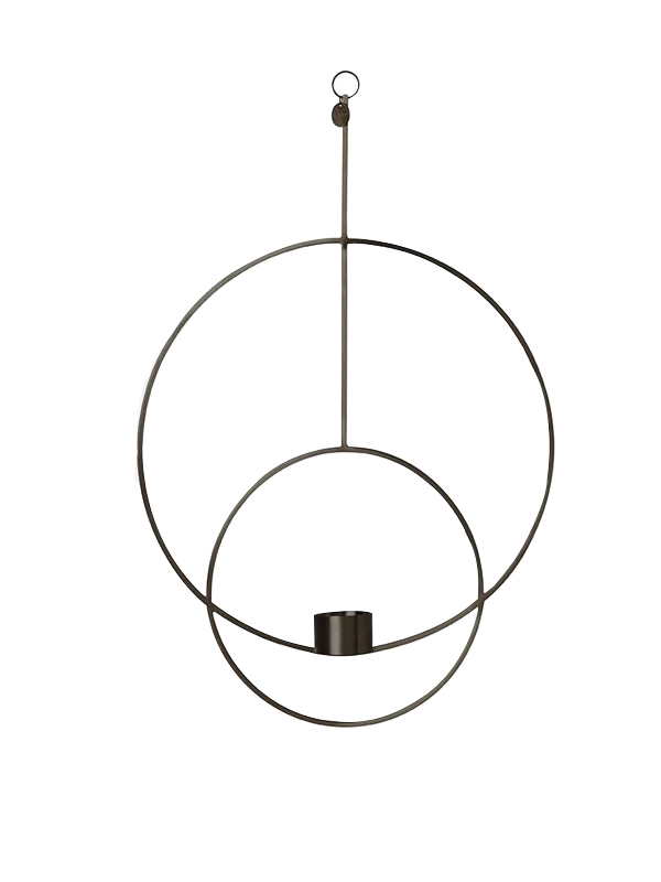 Ferm Living - Haning Tealight Circular - Black (5750)
