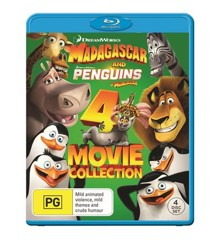 Madagascar 1-3 + Penguins of Madagascar (4 disc)(Blu-ray)