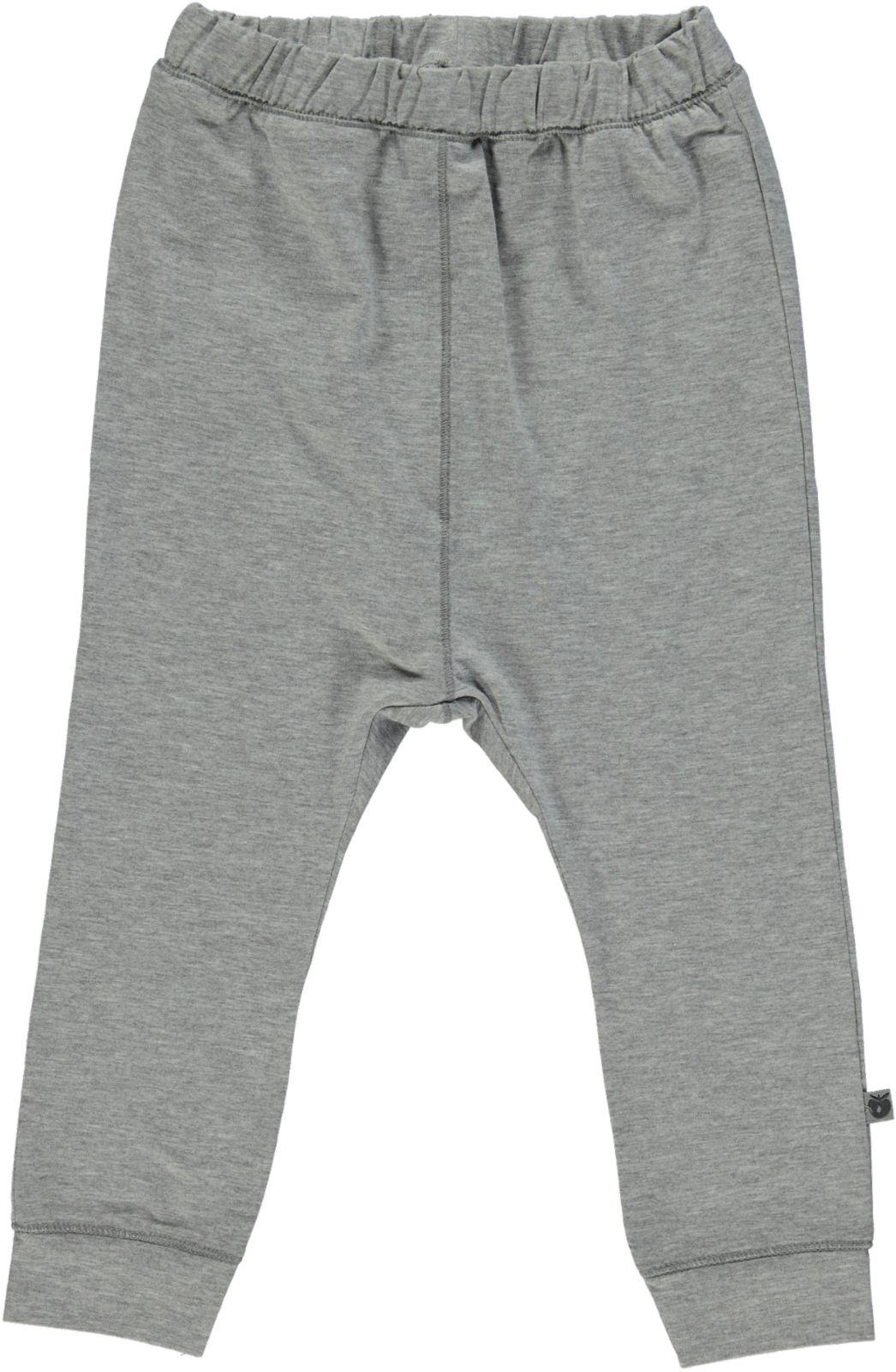 Småfolk - Organic Basic Jersey Pants - Lt. Grey Mix