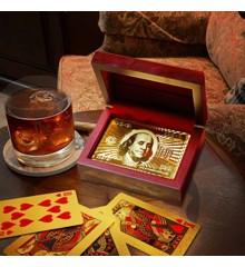 Guld Spillekort i Gaveæske