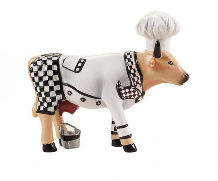 CowParade - Kuhfigur (Chef Cow) - Klein