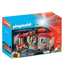 Playmobil - Take Along Fire Station Playset (5663 )