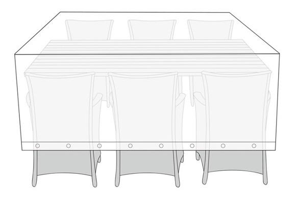 Living Outdoor - Overtræk Til Havemøbler Ø 220 x 130 x 115 cm - Plastik