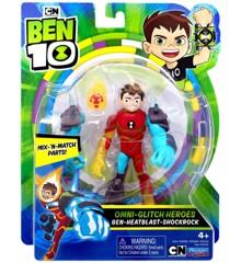 Ben 10 - Omni Enhanced Figure - Ben-Heatblast-Shockrock (76142)