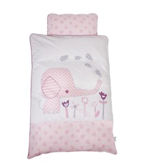 Baby Dan - Baby Sengesæt Elefantastic Pink