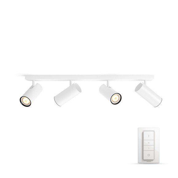 Philips Hue - Buratto 4-Spot Incl. Remote  White - White Ambiance - E