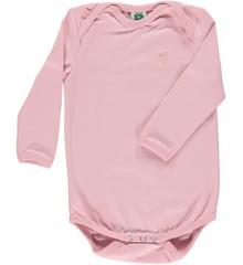 Småfolk - Økologisk Basis Langærmet Body - Sølv Pink