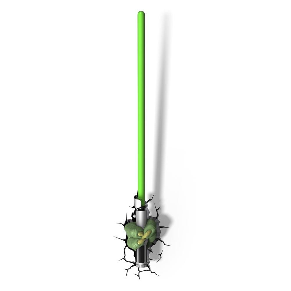Buy Star Wars 3d Wall Light Yoda S Lightsaber