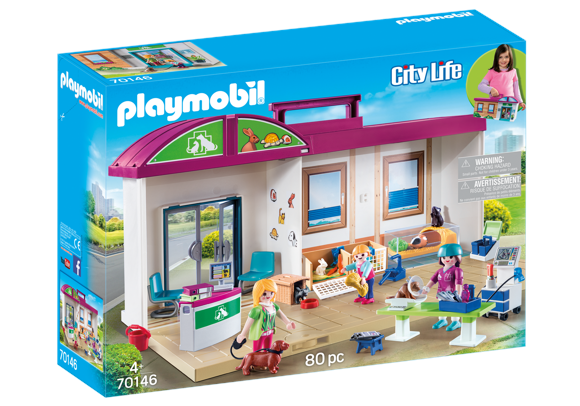 Playmobil - Take Along Vet Clinic (70146)