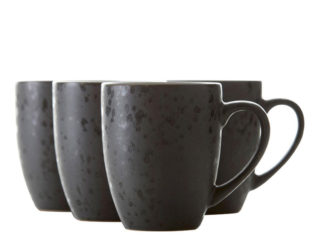 Kaufe Bitz Mug Set Of 4 Pcs Black Asst 821232 Black Blue