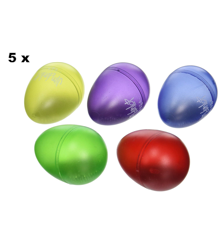 Dunlop - 9102 - 5 x Colorful Percussion Shaker Eggs