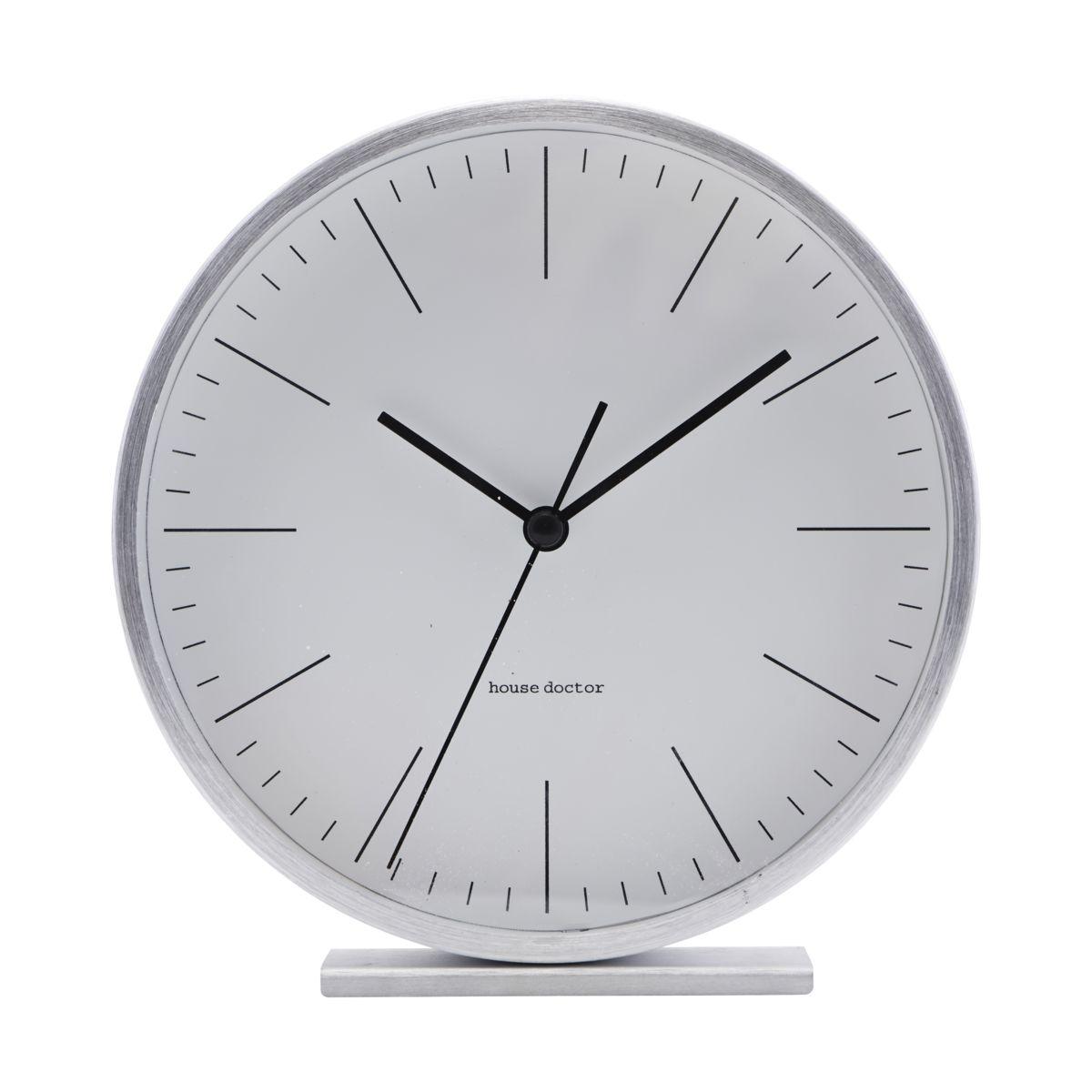 House Doctor - Hannah Table Clock - Silver (EA0701)