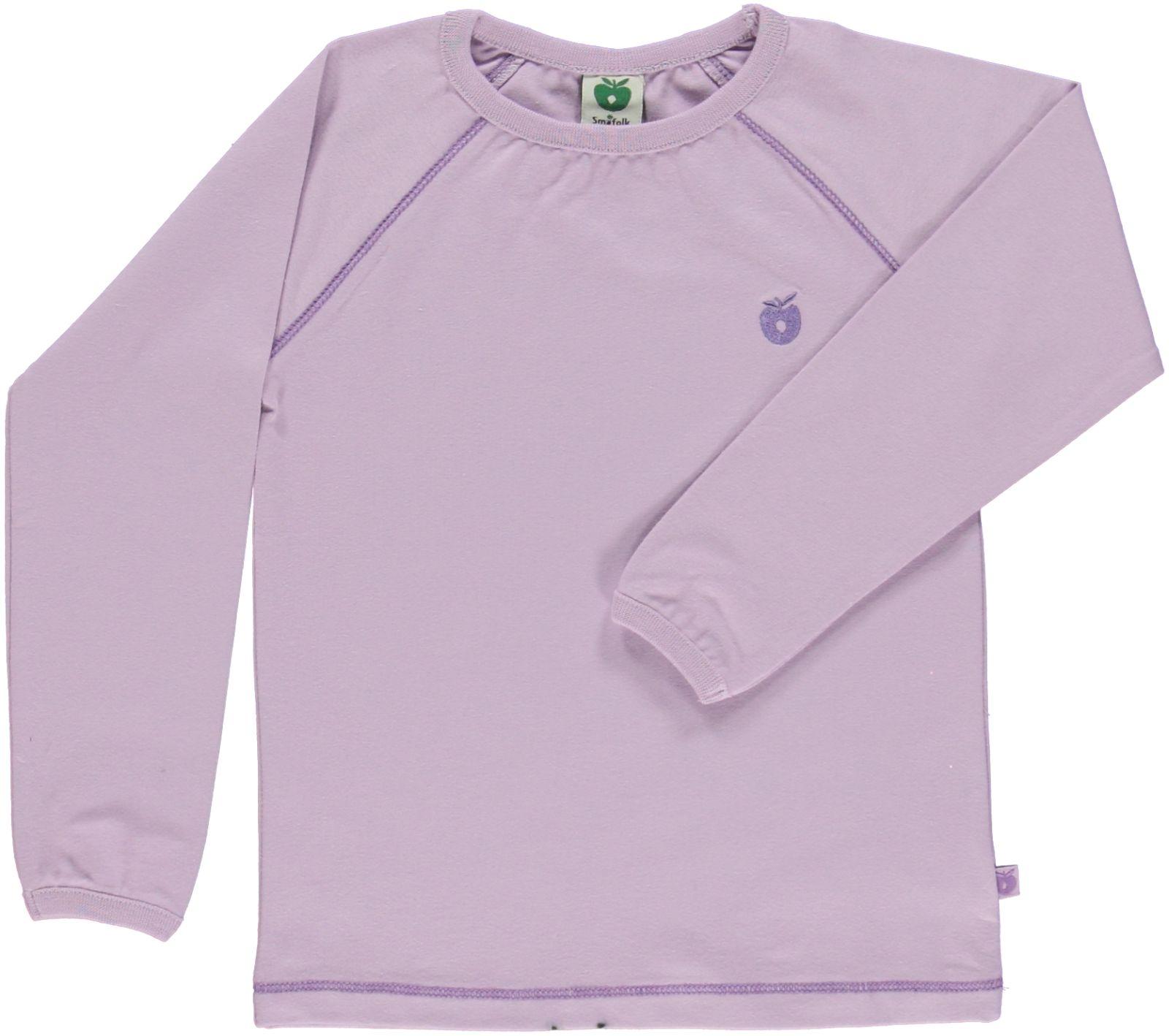 Småfolk - Organic Basic Longsleved T-Shirt - Lavender