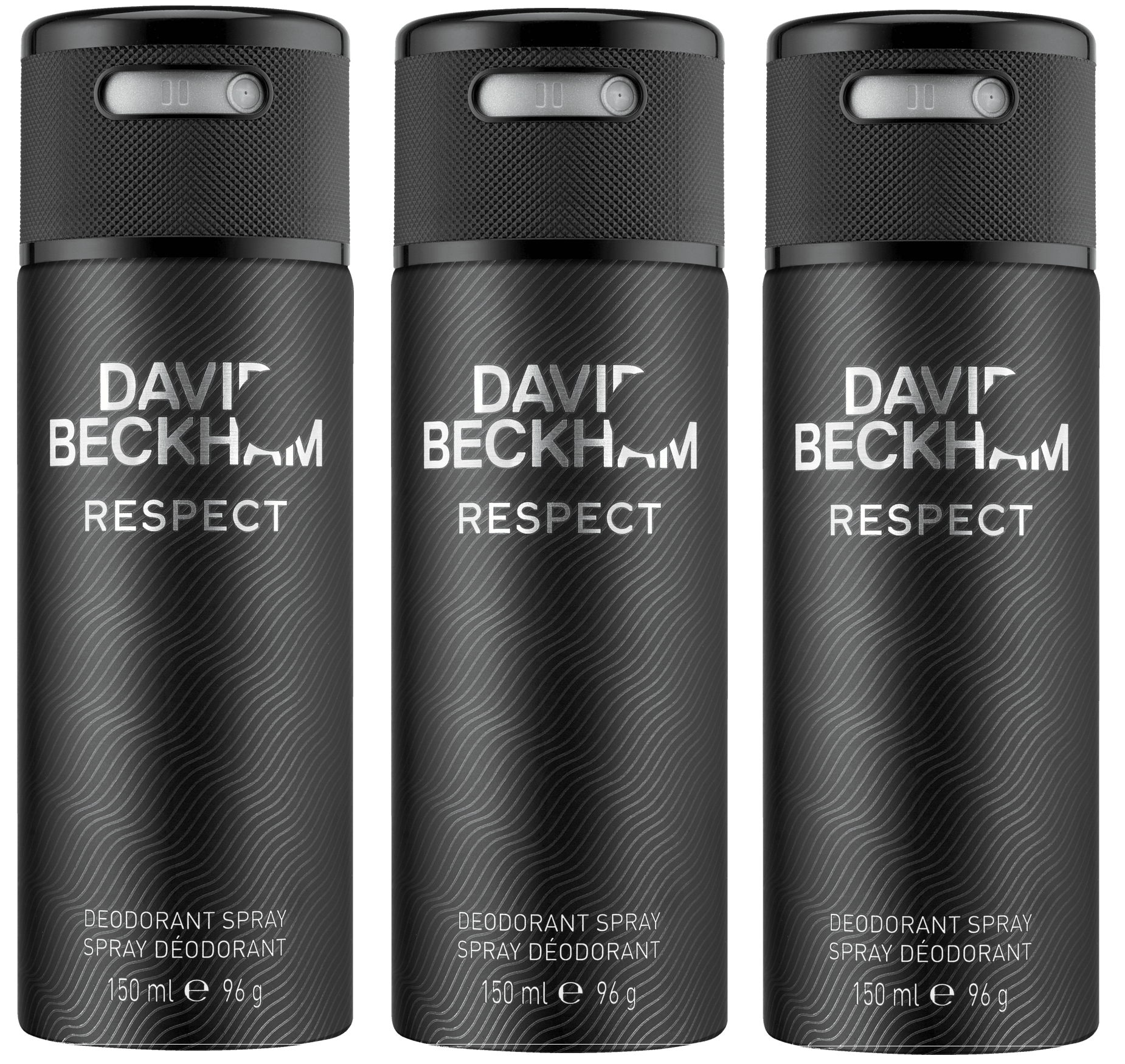 David Beckham - 3x Respect Deo Spray