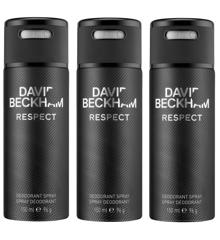 David Beckham - 3x Respect Deo Spray