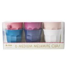 Rice - Medium Melamin Kopper 6 stk - Simply Yes
