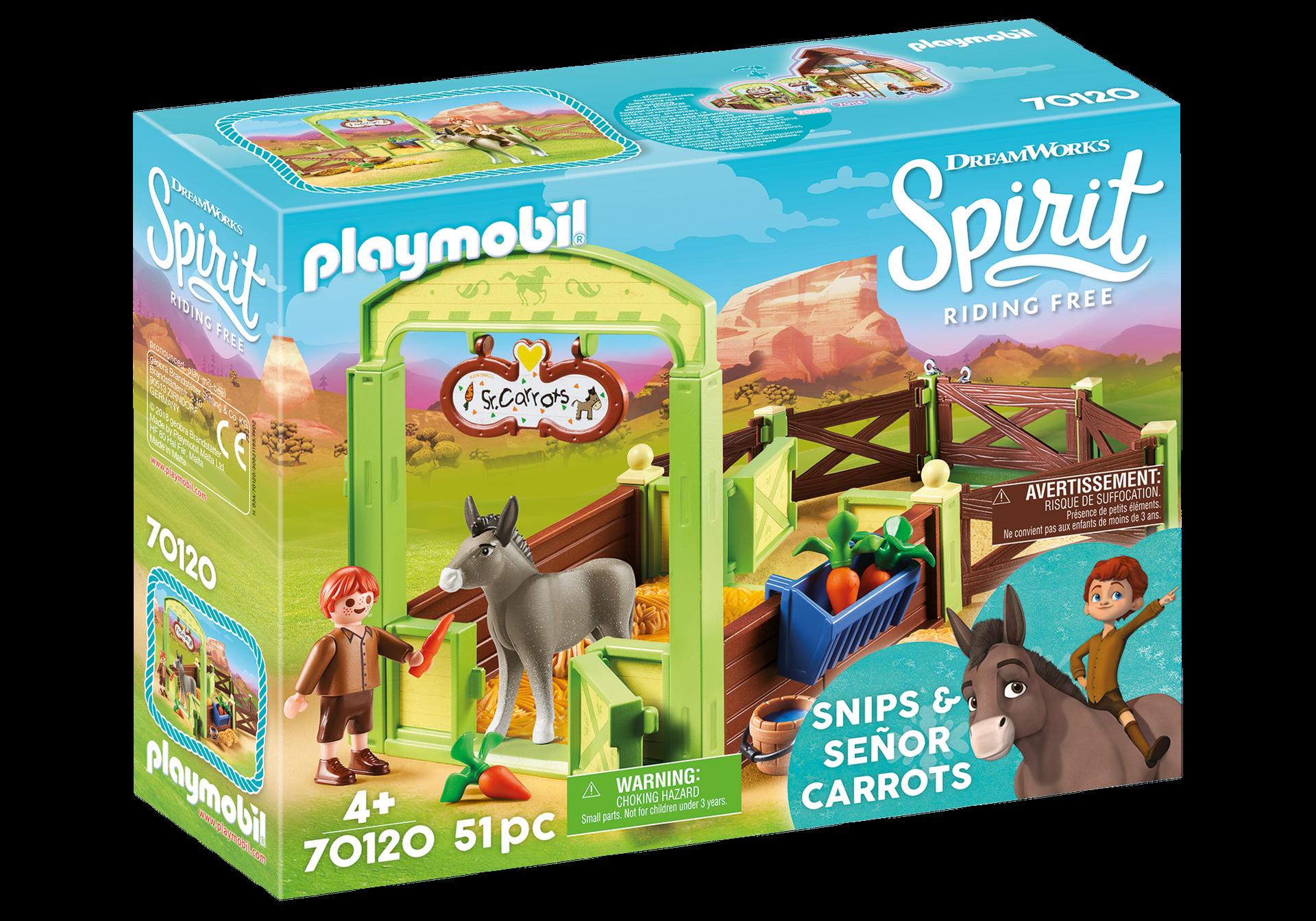 Playmobil - Horse Box - Snips & Señor Carrots (70120)