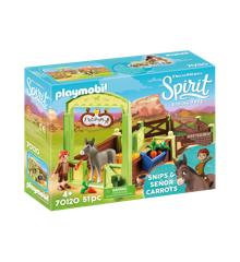 Playmobil - Snips og Señor Carrots med hestestald (70120)
