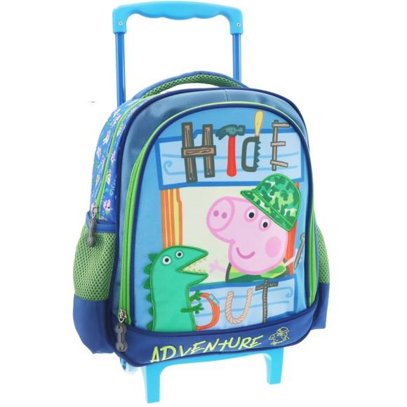 Peppa Pig Backpack Trolley George - 31 x 27 x 10 - Polyester