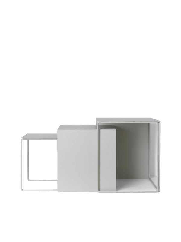 Ferm Living - Cluster Tables Set Of 3 - LIght Grey (3373)