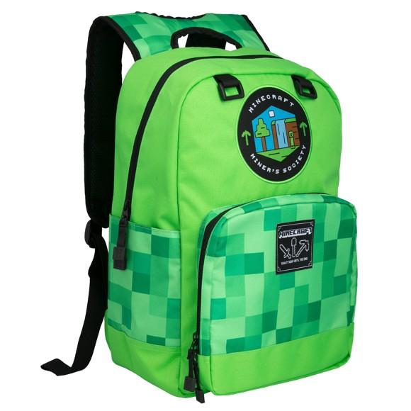 "Minecraft 17"" Miner's Society Backpack"