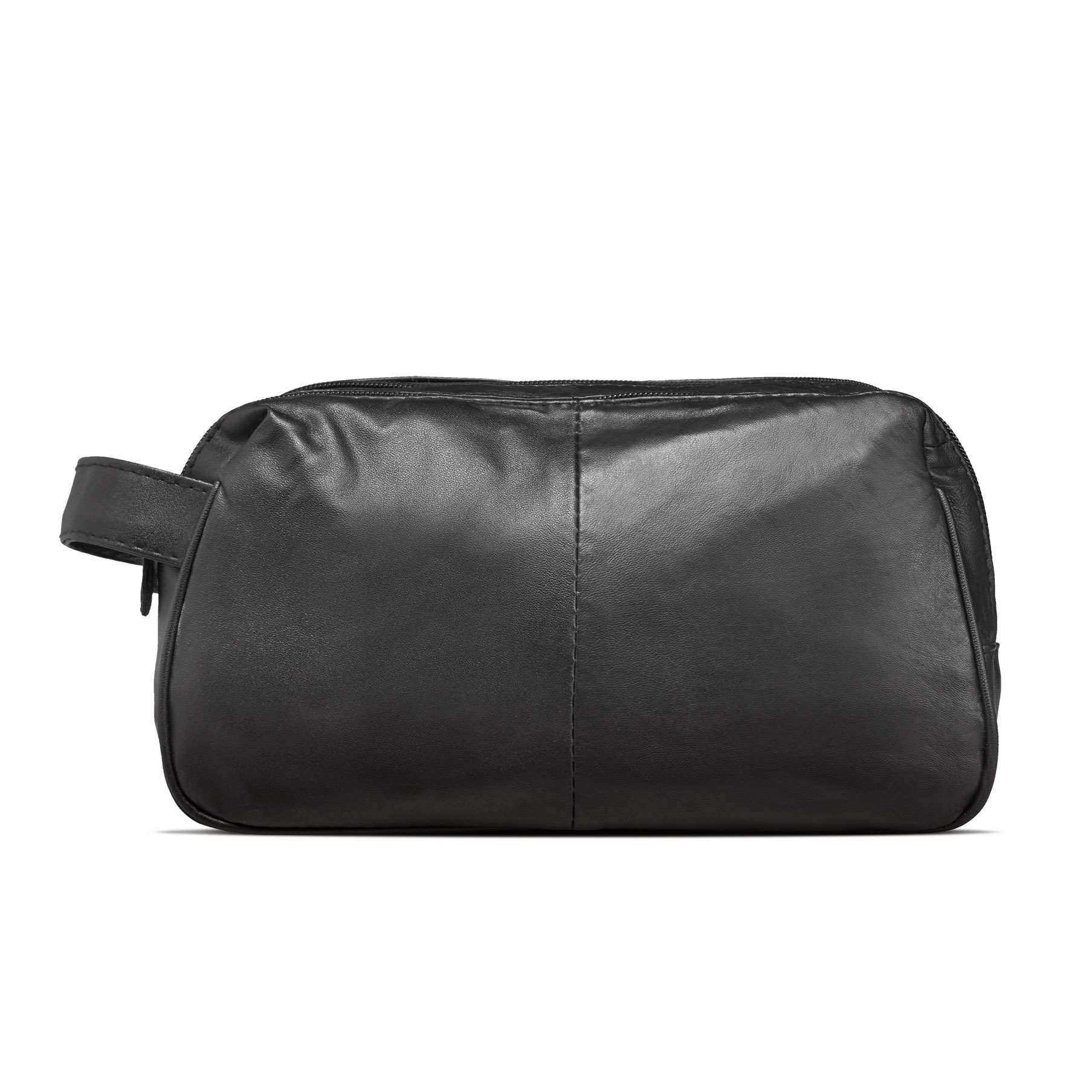 Studio - 2-Room Wash Bag For Men - Soft Lambskin