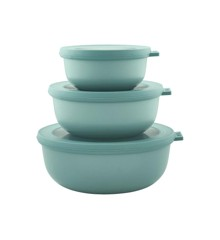 Rosti Mepal - Cirqula Low Bowl Set Of 3 - Nordic Green (233092)