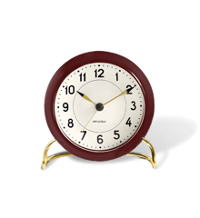 Arne Jacobsen - Station Table ​Clock ​ - Bordaux/White (43676)