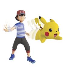 Pokémon - Feature Figur - 11 cm - Ash + Pikachu