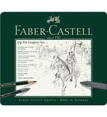 Faber-Castell - Pitt Graphite sæt i tin æske (19 stk)