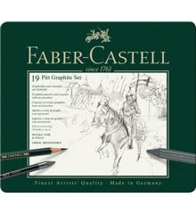 Faber-Castell - Set Pitt Graphite tin of 19 (112973)