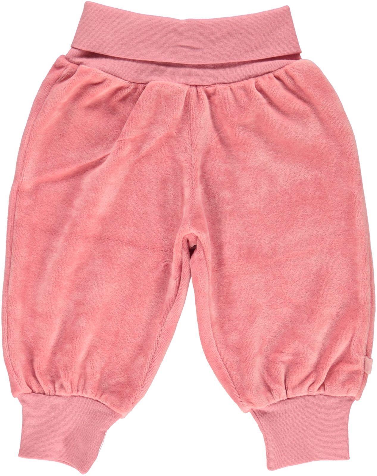 Småfolk - Velvet Baby Waistband Pants - Blush