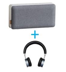 Sackit - MOVEit Wi-Fi  + WOOFit Bluetooth Hovedtelefon Sort Bundle