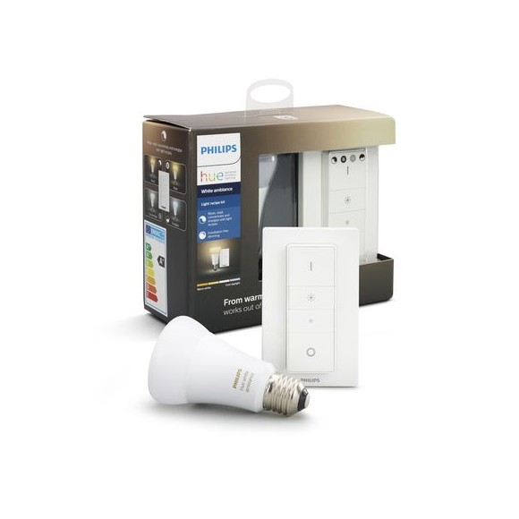 Philips Hue -  E27 Wireless Dimming kit - White Ambiance - New Bluetooth edition