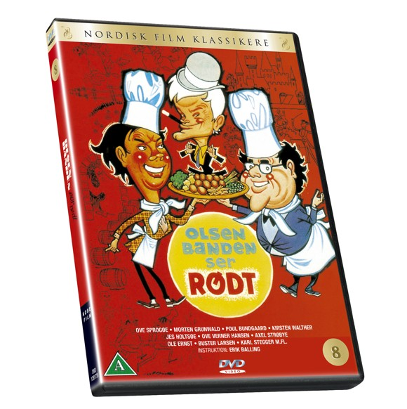 Olsen Banden 8 - Ser rødt - DVD