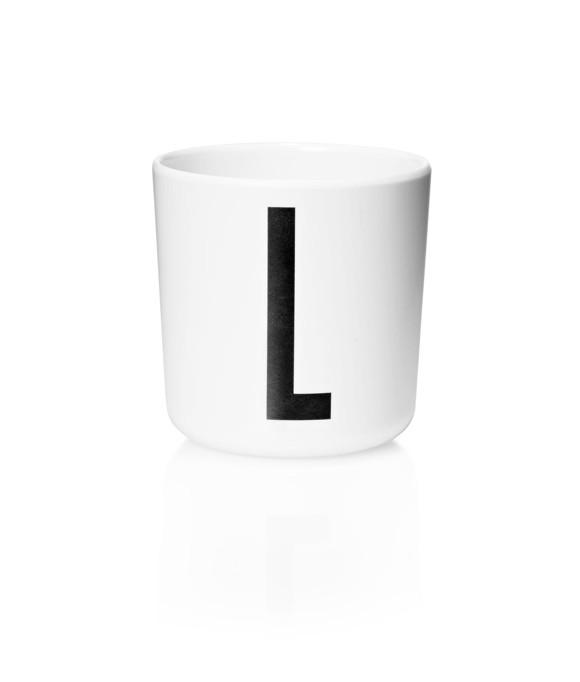 Design Letters - Personal Melamine Cup L - White (20201000L)