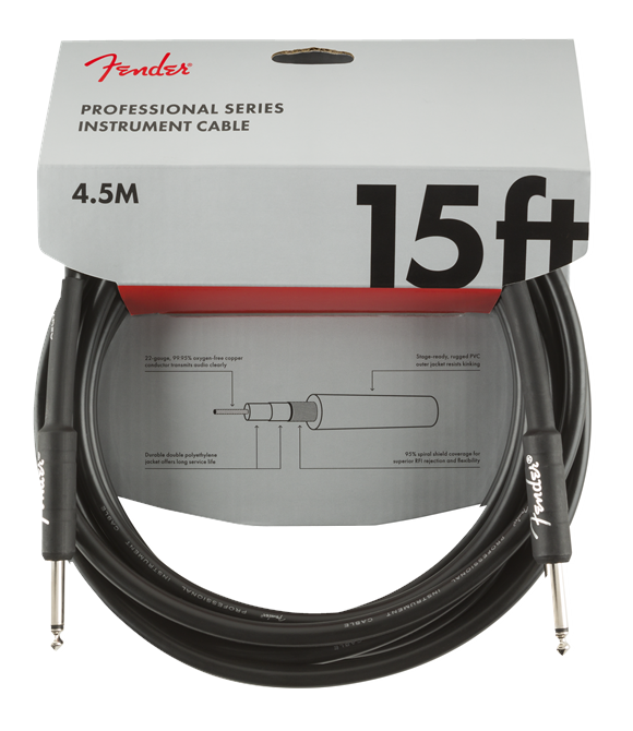 Fender - Professional Series - Straight/Straight Instrument Jack Cable (4.5 M.)