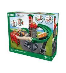 BRIO - Løft- og Læs med Lagerbygning Togbane