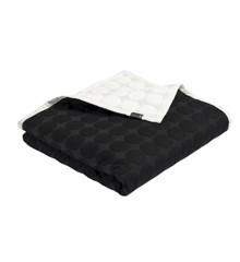 HAY - Mega Dot sengetæppe 235 x 245 cm - Svart / krem
